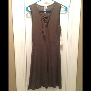 Lace up front Francesca's Sleeveless dress